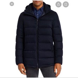 Herno technical removable hooded jacket navy 54/44